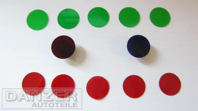 Farbfilterscheiben für Kontrolleuchten (12er Packung)