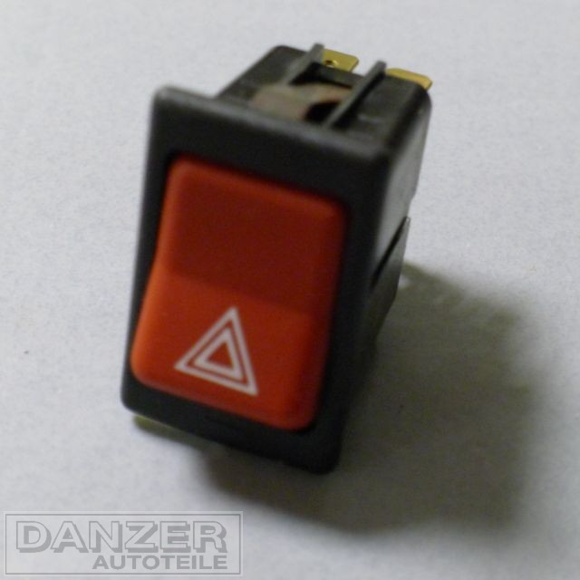 Wippenschalter für Warnblinkanlage, rot