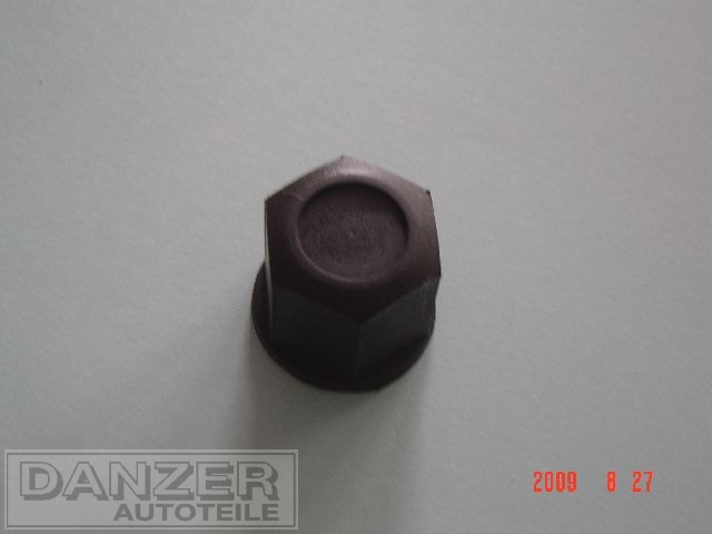 Radmutterkappe Plaste schwarz