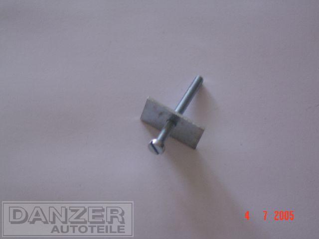 Gewindeplatte mit Schraube für Blinkleuchte vorn