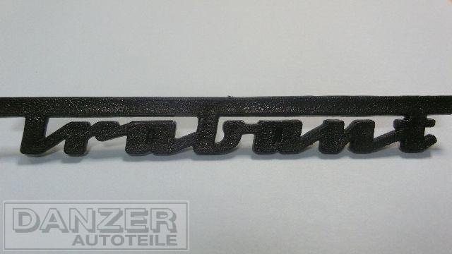 """Schriftzug """"Trabant"""", plaste schwarz"""