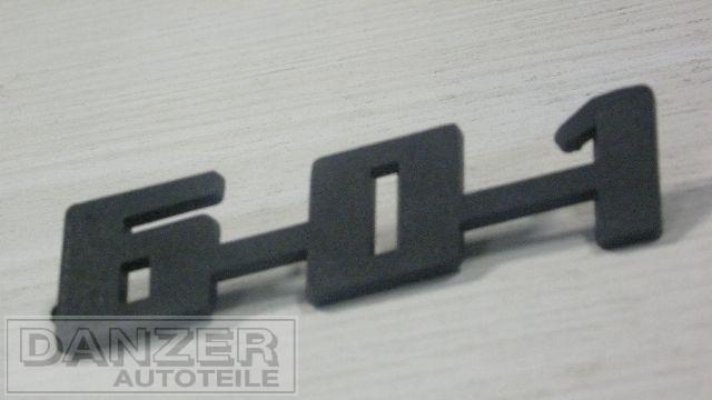"""Schriftzug """"601"""", plaste schwarz"""
