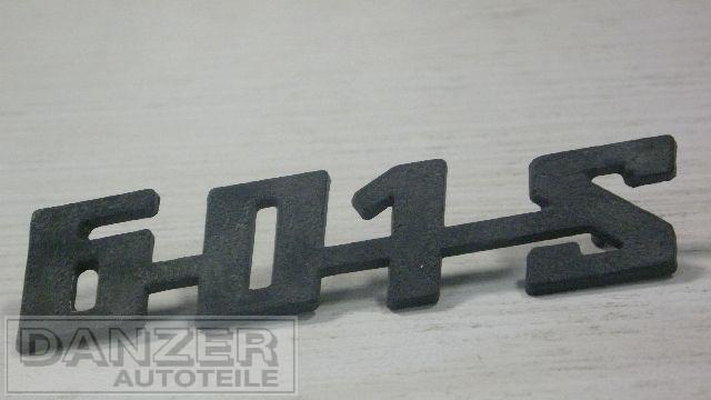 """Schriftzug """"601S"""", plaste schwarz"""