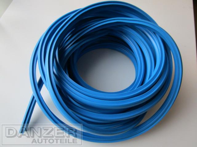 Einschiebeprofil für Zierleisten , 7 m., blau