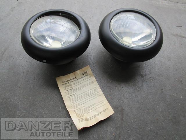 Einbauscheinwerfer R 2 komplett mit schwarzem Lampenring ( Paar )